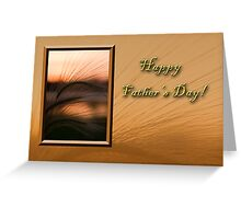 Father's Day Grass Sunset Greeting Card