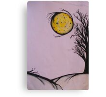 Speckle Moon  Canvas Print