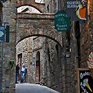 San Gimignano Alleyway by phil decocco