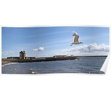 Towards Broughty Ferry Castle  Poster