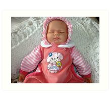 Baby Doll in PInk Art Print