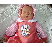 Baby Doll in PInk Photographic Print