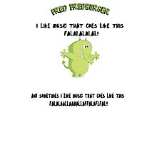 FRED FREDBURGER the grim adventures of billy and mandy cartoon Photographic Print