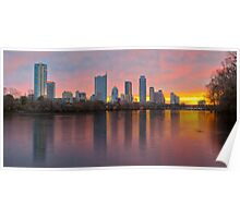 Austin Skyline Sunrise from Lou Neff Park 1 Poster