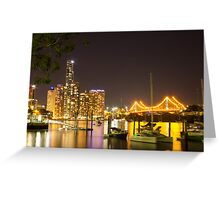 Brisbane Night Greeting Card