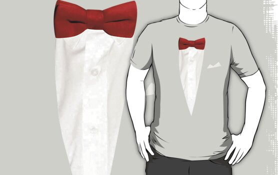 Red Bow Tie by shirtypants