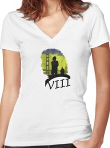 The Eighth Doctor Women's Fitted V-Neck T-Shirt