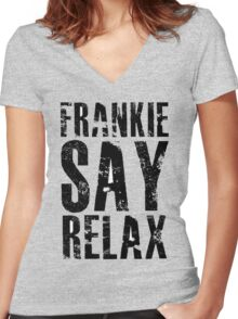 Frankie Says Women's Fitted V-Neck T-Shirt