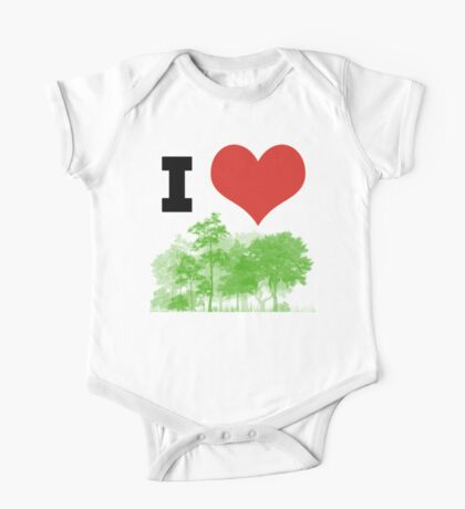 I Heart Forest / Nature / Trees One Piece - Short Sleeve