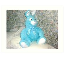 Blue Rabbit - Easter Gift Art Print