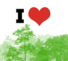 I Heart Forest / Nature / Trees by RedPine