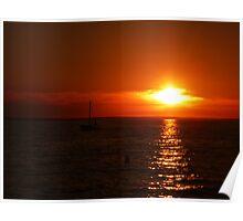 Beautifull sunset Poster