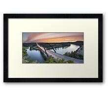Pennybacker Bridge Panorama, Austin, Texas 3 Framed Print