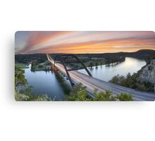 Pennybacker Bridge Panorama, Austin, Texas 3 Canvas Print