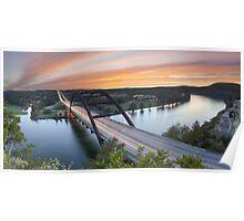 Pennybacker Bridge Panorama, Austin, Texas 3 Poster