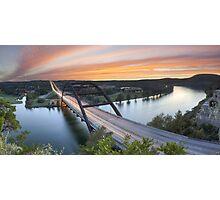 Pennybacker Bridge Panorama, Austin, Texas 3 Photographic Print
