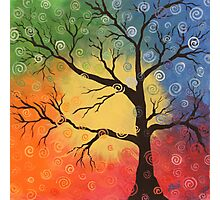 Whimsical tree of color Photographic Print