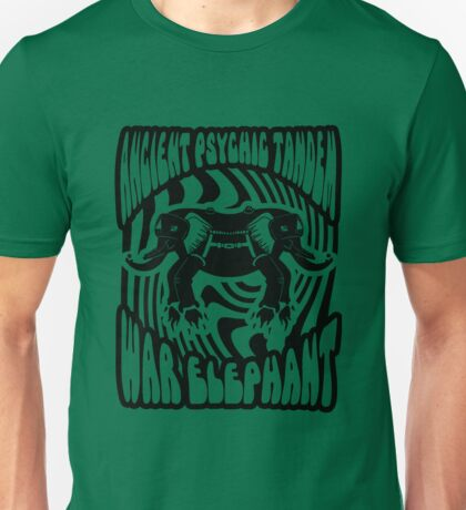 Ancient physic tandem war elephant Unisex T-Shirt