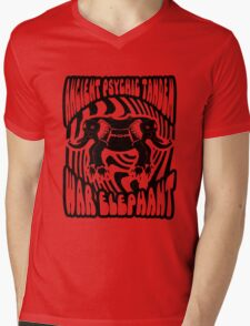 Ancient physic tandem war elephant Mens V-Neck T-Shirt