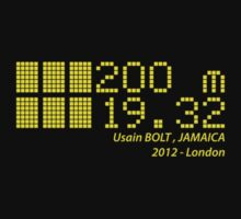 Usain BOLT - 200m - 2012 by NicoWriter