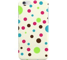 Retro pattern - dots iPhone Case/Skin