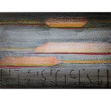 Abstract Color, Texture, and Type Photographic Print