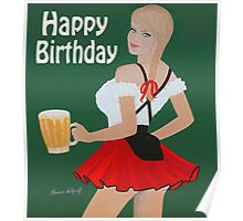 Birthday beer wench Poster