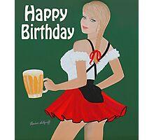Birthday beer wench Photographic Print
