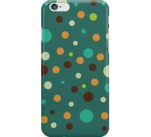 Retro pattern - dots on green iPhone Case/Skin