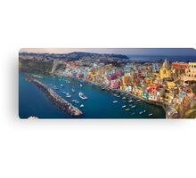 Sunday in Corricella Canvas Print