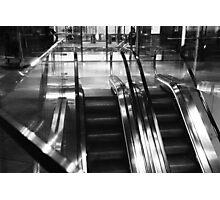 Empty escalators  Photographic Print