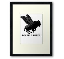 Buffalo Wings Flying Buffalo Framed Print