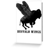Buffalo Wings Flying Buffalo Greeting Card