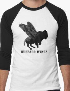 Buffalo Wings Flying Buffalo Men's Baseball ¾ T-Shirt