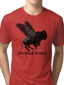 Buffalo Wings Flying Buffalo Tri-blend T-Shirt