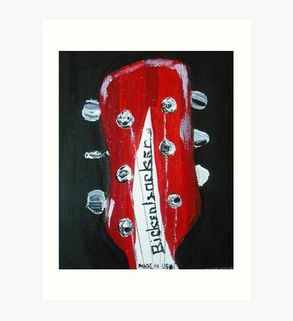 Rickenbacker Headstock Guitar Fine Art Acrylic Painting Art Print