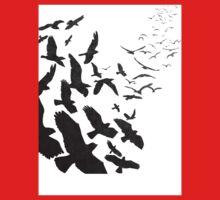 Flock of Birds in Flight Kids Clothes