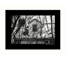 Deserted Building Detail At Nikola Tesla's Wardenclyffe Laboratory Site - Shoreham, New York Art Print