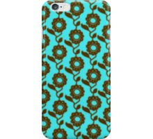 Retro floral pattern - mosaic iPhone Case/Skin