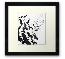 Flock of Birds in Flight Framed Print