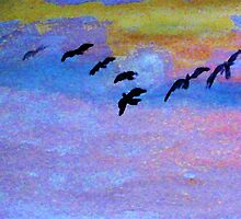 which way are they going? watercolor by Anna  Lewis