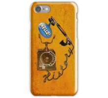 hello history iPhone Case/Skin
