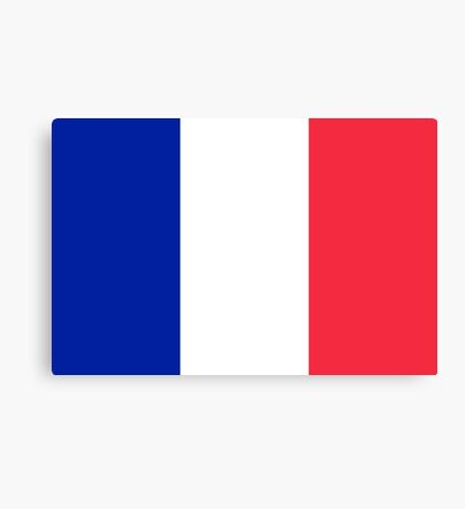 French Flag Canvas Print