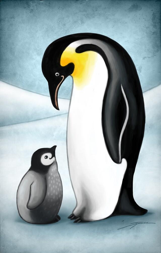 Penguins by Ine Spee
