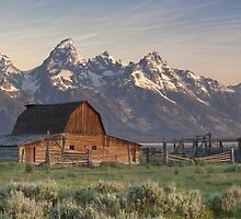 Morman Barn at Sunrise, Grand Tetons by RobGreebonPhoto