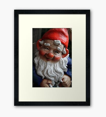 Reggie the Gnome Framed Print