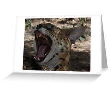 Serval Yawn Greeting Card