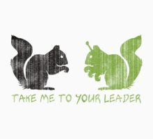 "Alien Space Squirrel ""Take Me To Your Leader"" Kids Clothes"