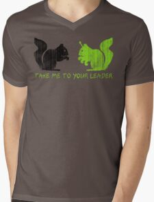 """Alien Space Squirrel """"Take Me To Your Leader"""" Mens V-Neck T-Shirt"""