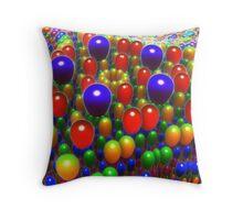 Balloon Extravaganza Throw Pillow